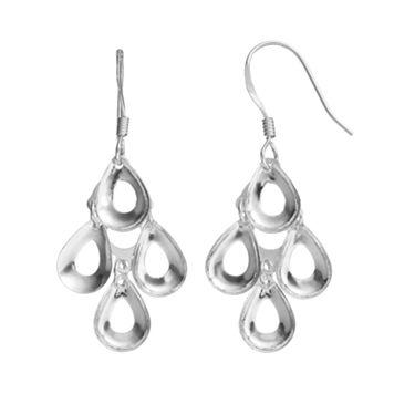 Sterling Silver Teardrop Kite Earrings