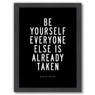 """Americanflat """"Be Yourself"""" Framed Wall Art"""