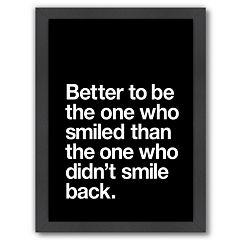 Americanflat 'Better to Smile' Framed Wall Art