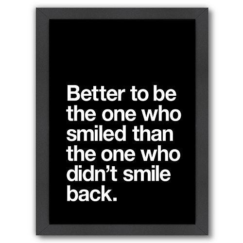 "Americanflat ""Better to Smile"" Framed Wall Art"