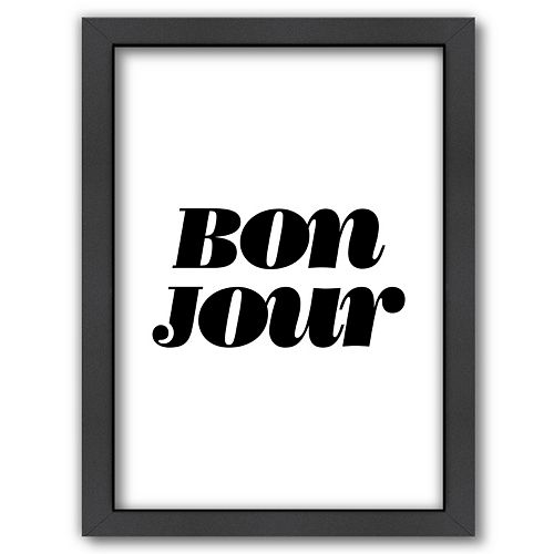 """Americanflat """"Bonjour"""" Framed Wall Art"""