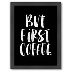 Americanflat 'But First Coffee' Vertical Framed Wall Art