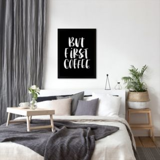 "Americanflat ""But First Coffee"" Vertical Framed Wall Art"