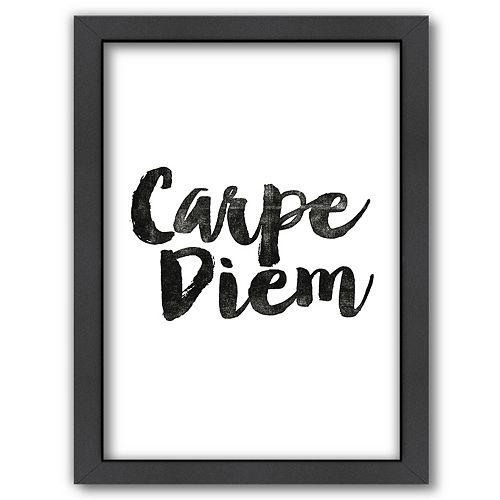 "Americanflat ""Carpe Diem"" Framed Wall Art"