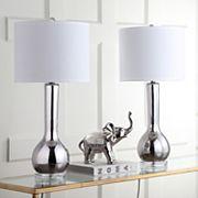 Safavieh 2 pc Long Neck Ceramic Table Lamp Set
