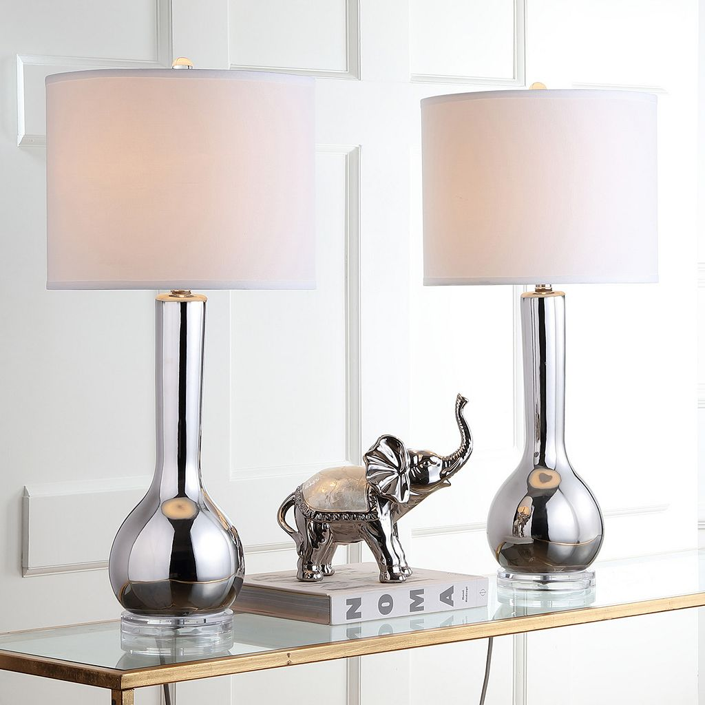 Safavieh 2-piece Long Neck Ceramic Table Lamp Set