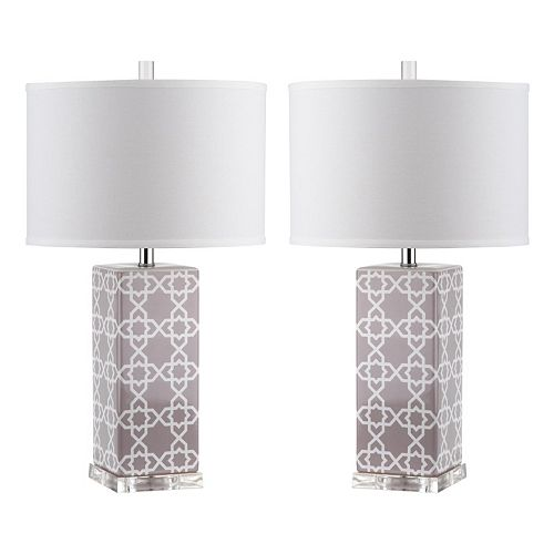 Safavieh Quatrefoil 2-piece Table Lamp Set