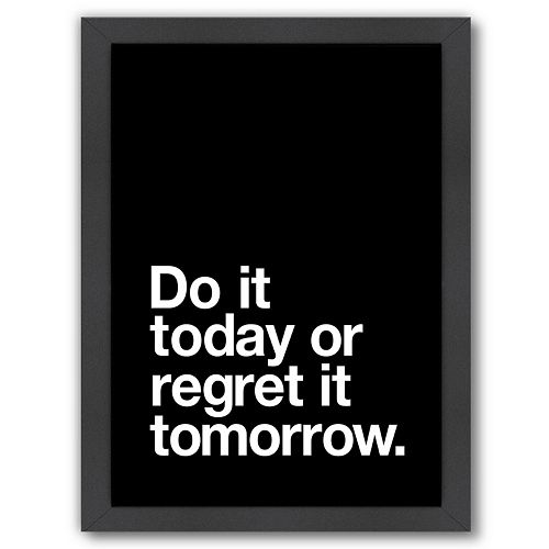 "Americanflat ""Do It Today"" Framed Wall Art"