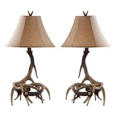 Safavieh Sundance Faux Antler Table Lamp 2 pc Set