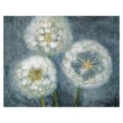 ''Three Wishes Blue'' Farmhouse Canvas Wall Art