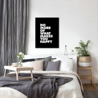 """Americanflat """"Do More Happy"""" Bold Framed Wall Art"""