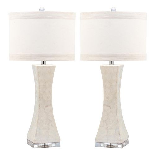 Safavieh 2-piece Concave Table Lamp Set
