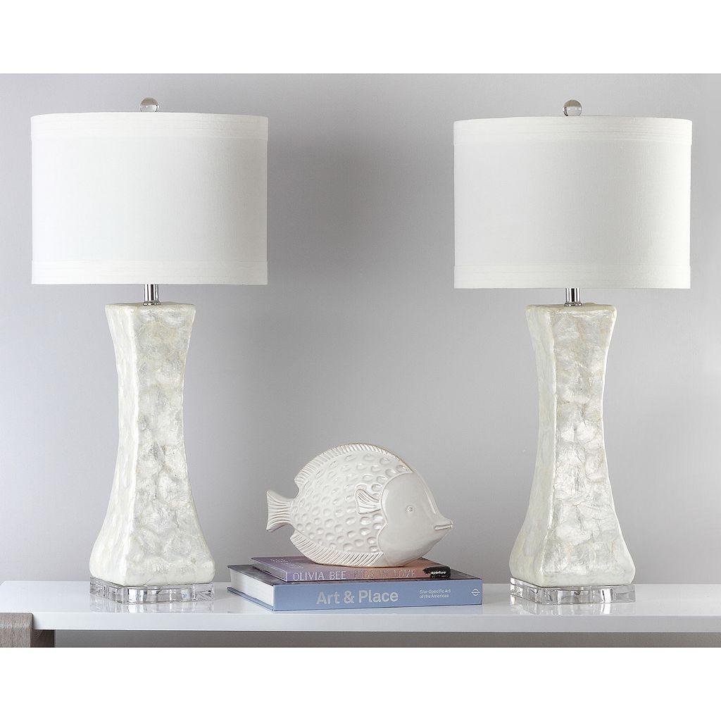 Safavieh 2-piece Concave Table Lamp Set