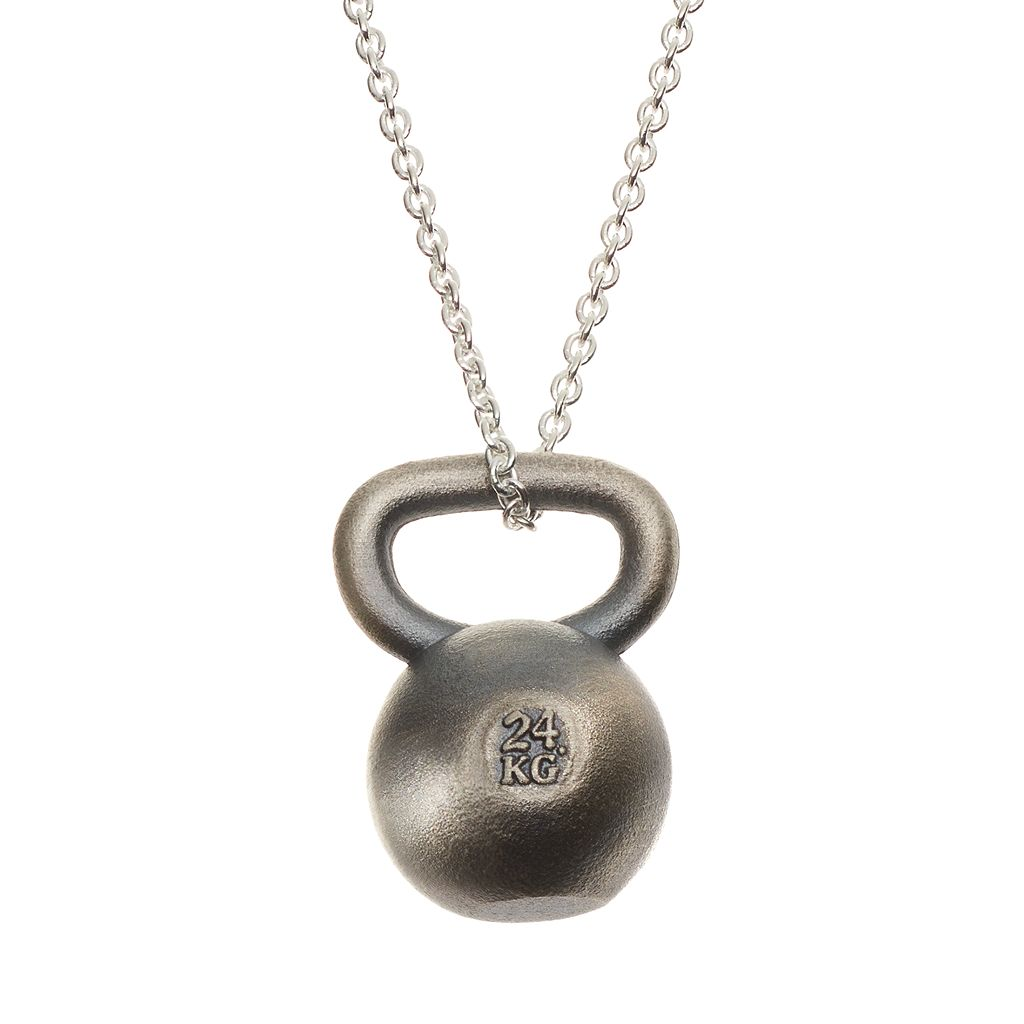 Insignia Collection Sterling Silver Kettlebell Pendant Necklace
