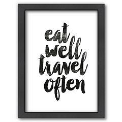 Americanflat 'Eat Well Travel Often' Framed Wall Art