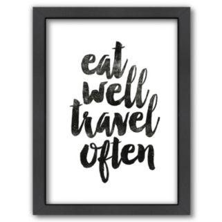 "Americanflat ""Eat Well Travel Often"" Framed Wall Art"