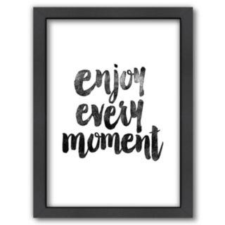 "Americanflat ""Enjoy Every Moment"" Framed Wall Art"