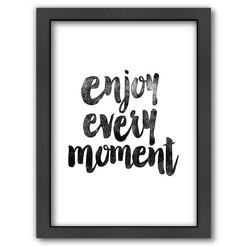 "Americanflat ""Enjoy Every Moment"" Framed Wall Art"