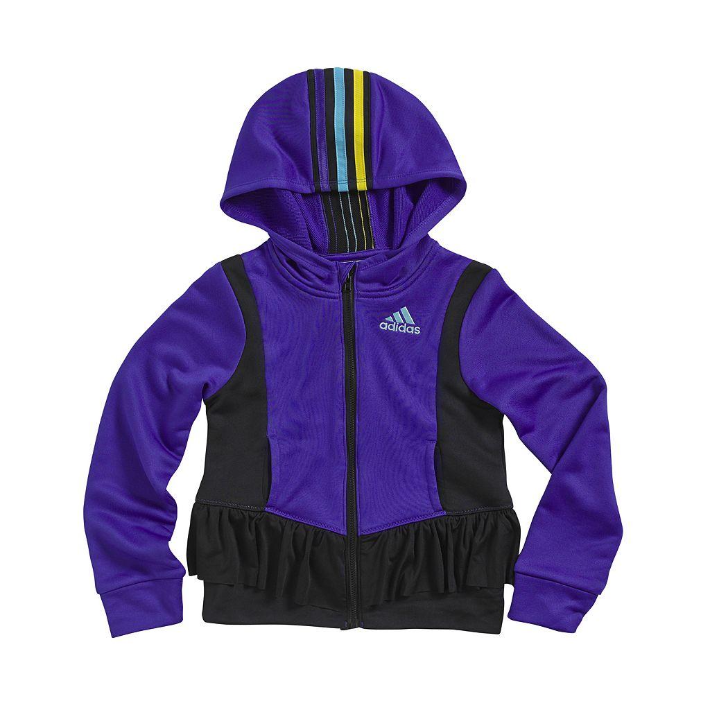 Girls 4-6x adidas climawarm Twirl Trainer Hooded Jacket
