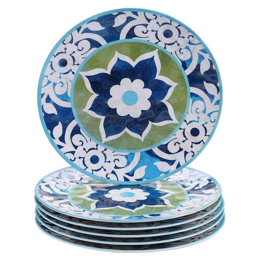 Certified International Barcelona by Jennifer Brinley 6-pc. Melamine Dinner Plate Set