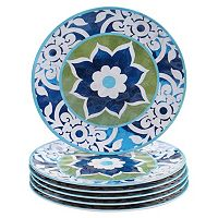 Certified International Barcelona by Jennifer Brinley 6-pc. Melamine Dinner Plate Set