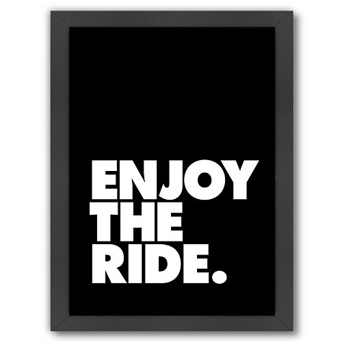 "Americanflat ""Enjoy The Ride"" Framed Wall Art"