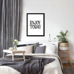 "Americanflat ""Enjoy Today"" Framed Wall Art"