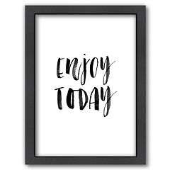 Americanflat 'Enjoy Today' Framed Wall Art