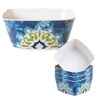 Certified International Barcelona by Jennifer Brinley 5-pc. Melamine Salad Serving Set