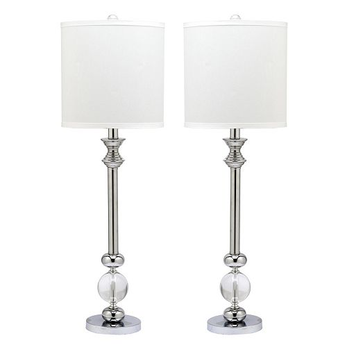 Safavieh 2-piece Erica Glass Candlestick Lamp Set