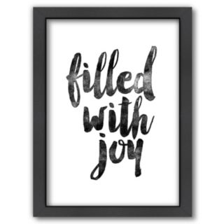 """Americanflat """"Filled With Joy"""" Framed Wall Art"""