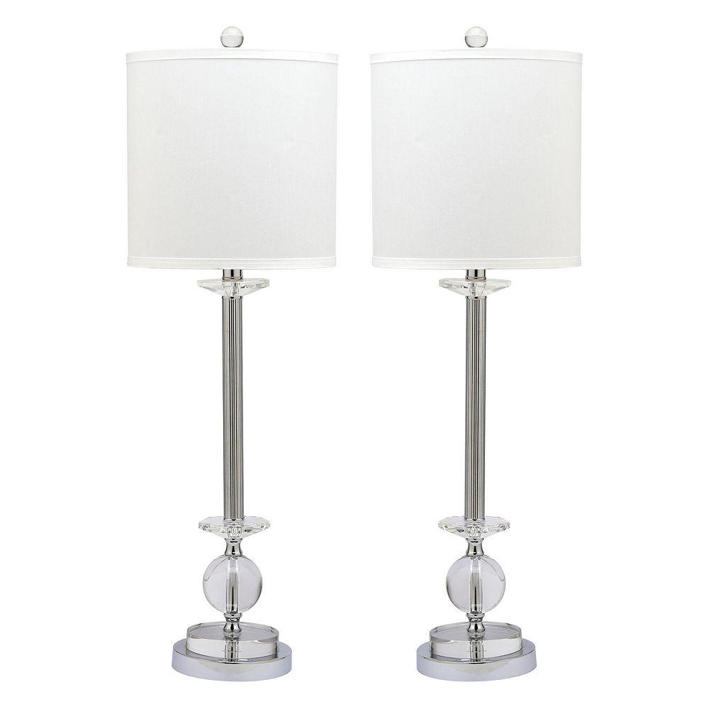 Safavieh 2-piece Marla Glass Candlestick Lamp Set