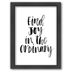 Americanflat 'Find Joy In The Ordinary' Framed Wall Art