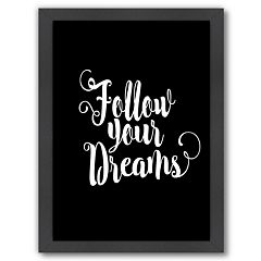 Americanflat 'Follow Your Dreams' Framed Wall Art