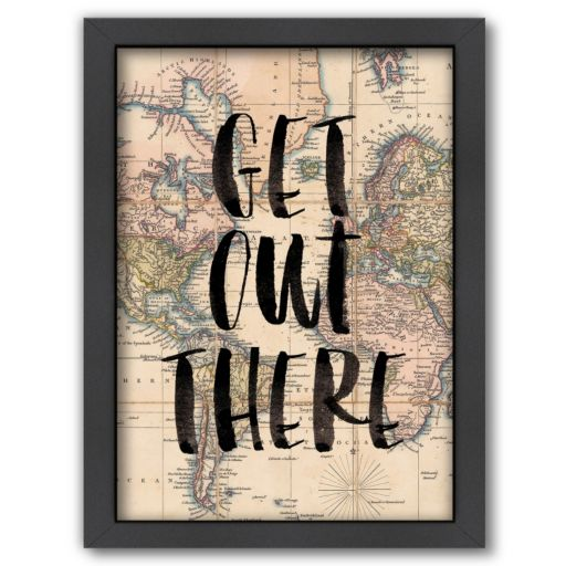 "Americanflat ""Get Out There"" Framed Wall Art"