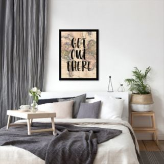 """Americanflat """"Get Out There"""" Framed Wall Art"""