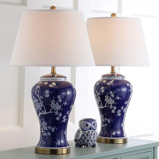 Safavieh 2-piece Spring Blossom Table Lamp Set