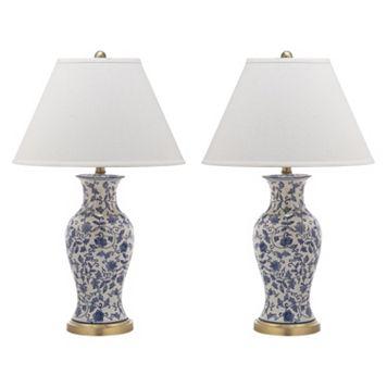 Safavieh 2-piece Beijing Floral Urn Lamp Set