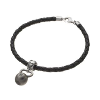 Insignia Collection Sterling Silver Kettlebell Charm Bracelet