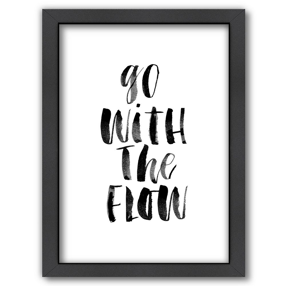 """Americanflat """"Go With The Flow"""" Framed Wall Art"""