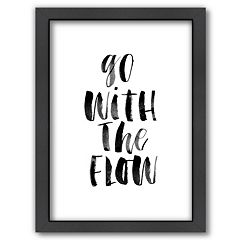 Americanflat 'Go With The Flow' Framed Wall Art