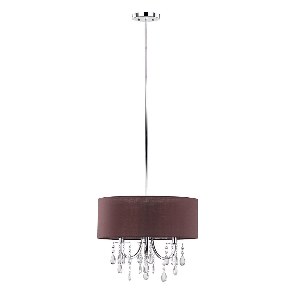 Safavieh Contessa Crystal Drum Pendant Light