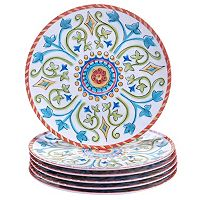 Certified International Tuscany by Joyce Shelton 6-pc. Melamine Salad Plate Set
