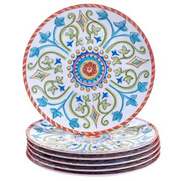 Certified International Tuscany by Joyce Shelton 6-pc. Melamine Salad Plate Set