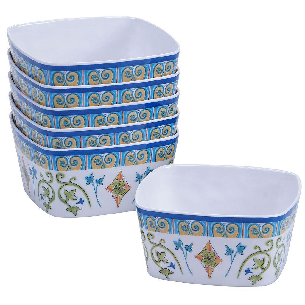 Certified International Tuscany by Joyce Shelton 6-pc. Melamine Ice Cream Bowl Set