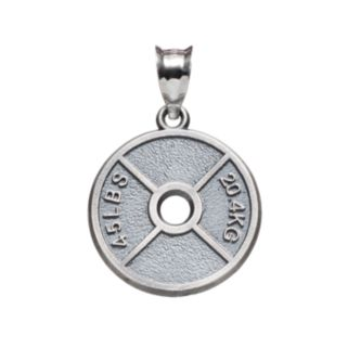 Insignia Collection Sterling Silver Weight Plate Pendant