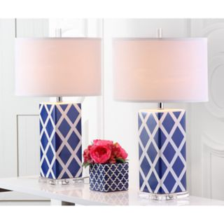 Safavieh 2-piece Garden Lattice Table Lamp Set
