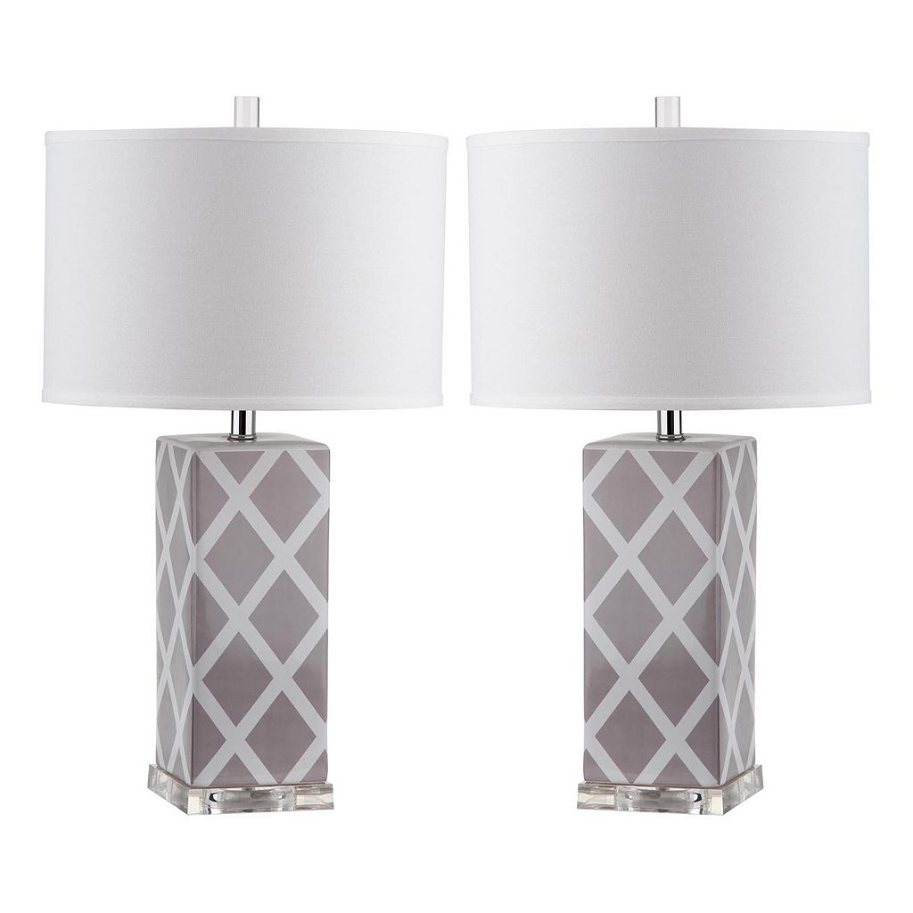 Safavieh 2-piece Garden Lattice Table Lamp Set