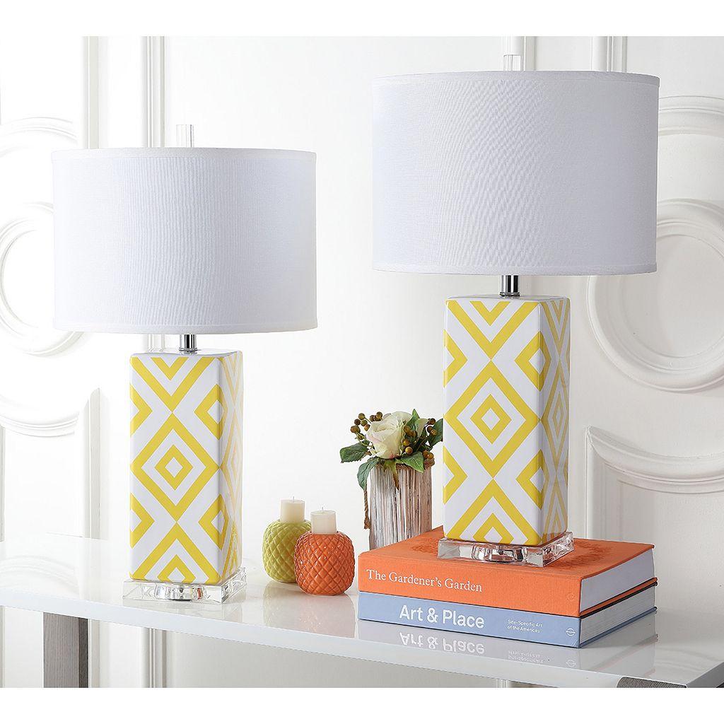 Safavieh 2-piece Geometric Table Lamp Set