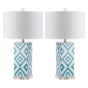 Safavieh 2-piece Geometric Table Lamp Set